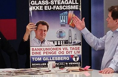 Tom Gillesberg på DR2's morgen TV på valgdagen