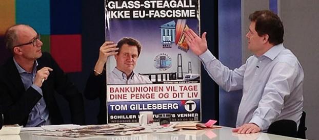 Tom Gillesberg på DR2's morgen TV på valgdagen