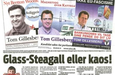 Ekstra Bladets bagside om Tom Gillesbergs valgkampagner