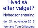 Verden efter valget: Schiller Instituttets nyhedsorientering med formand Tom Gillesberg