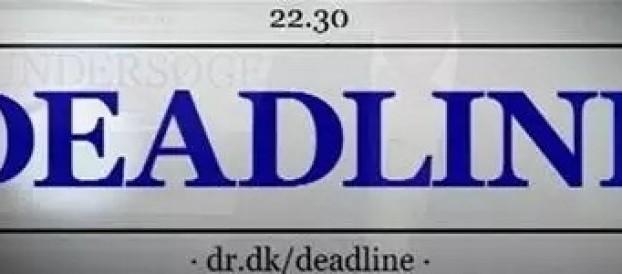 Deadline på DR2 fremhæver Tom Gillesbergs valgplakat, den 30. maj 2015