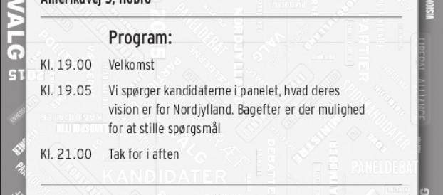 Debatmøder med Hans Schultz i Nordjylland