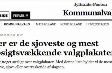 Jyllands-Posten: SIVE plakaten er en af de sjoveste og mest opsigtsvækkende valgplakater