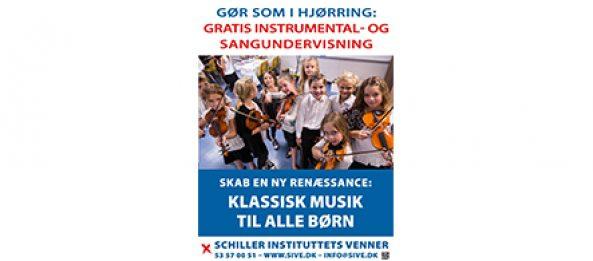 Interview med Hjørring Musikskole lærer Christian Larsen om Hjørring-modellen for gratis musikundervisning for alle børn
