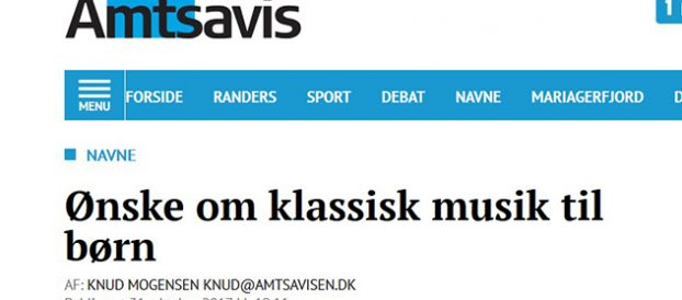 "Randers Amtsavis: Interview med Poul Gundersen ""Ønske om klassisk musik til børn"""