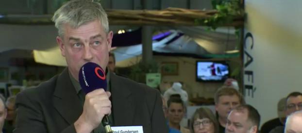 Poul Gundersen deltager i valgdebat fra Randers Regnskov med TV2 Østjylland