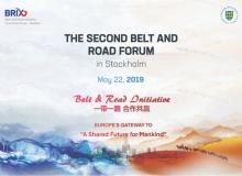 Stort Forum om Bælte og Vej-Initiativet, Den Nye Silkevej, i Stockholm den 22. maj 2019